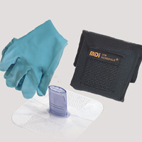 MDI+ CPR Microshield+ Microholster+ Breather With Gloves In Nylon Belt Holster