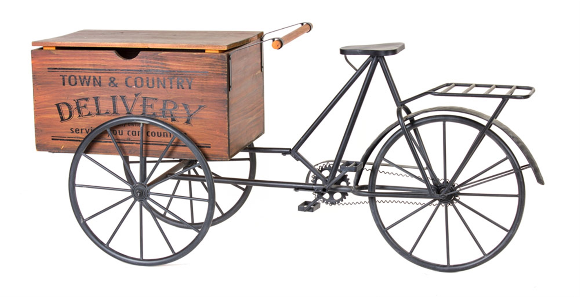 """Delivery Cart 59.5""""L x 27""""H Iron/Wood"""