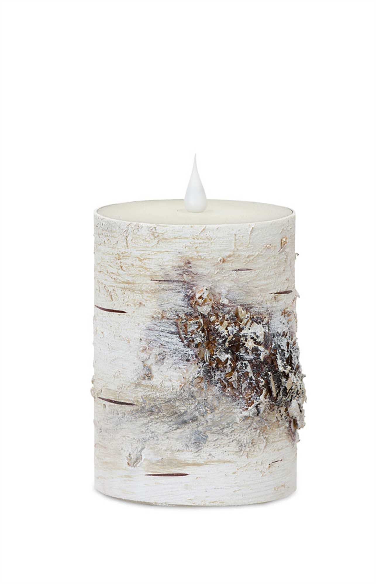 """LED Birch Candle 3.5""""D x 5""""H (Set of 2) with Remote"""