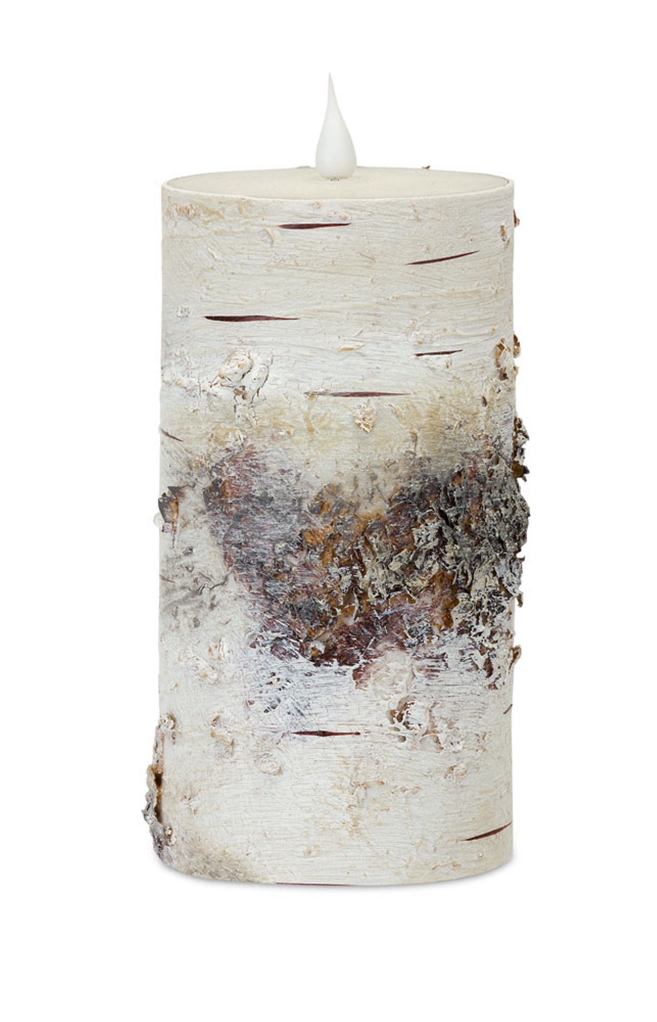 """LED Birch Candle 3.5""""D x 7""""H (with Remote)"""