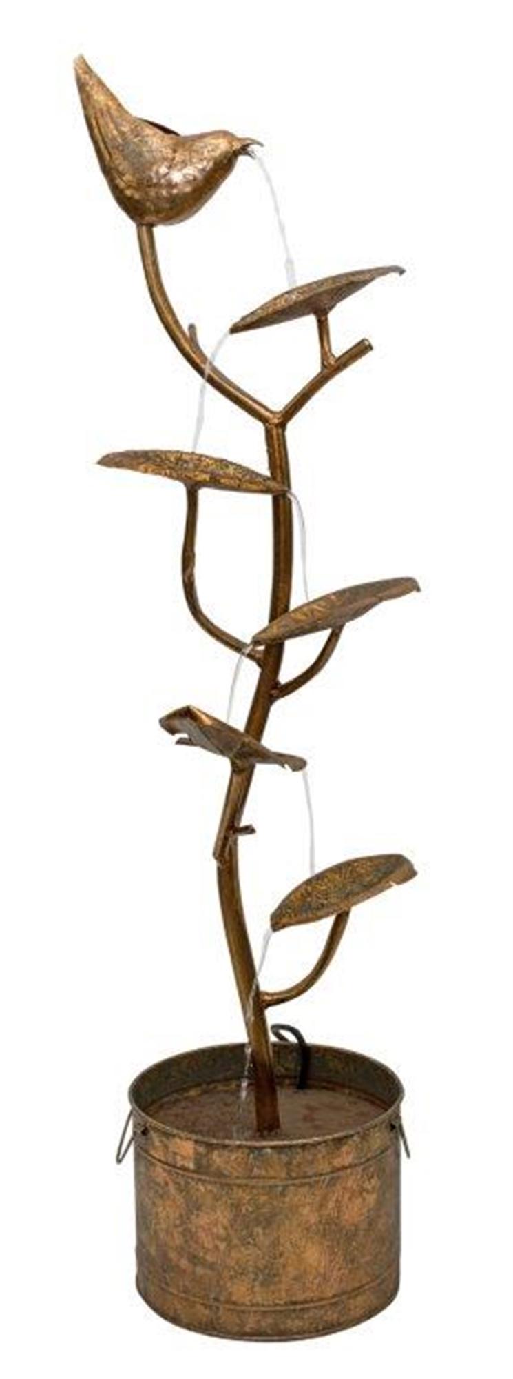 "Bird Fountain 14.5""L x 4'H Iron"