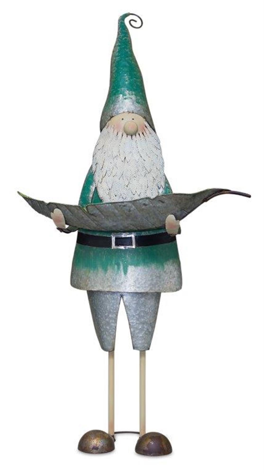 "Gnome Bird Feeder 28""L x 45.25""H Iron"