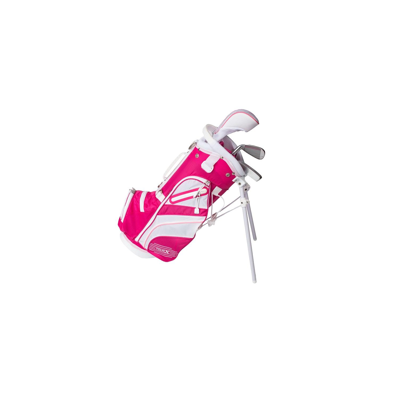 Tour X Size 0 Pink 3pc Jr Golf Set w/Stand Bag
