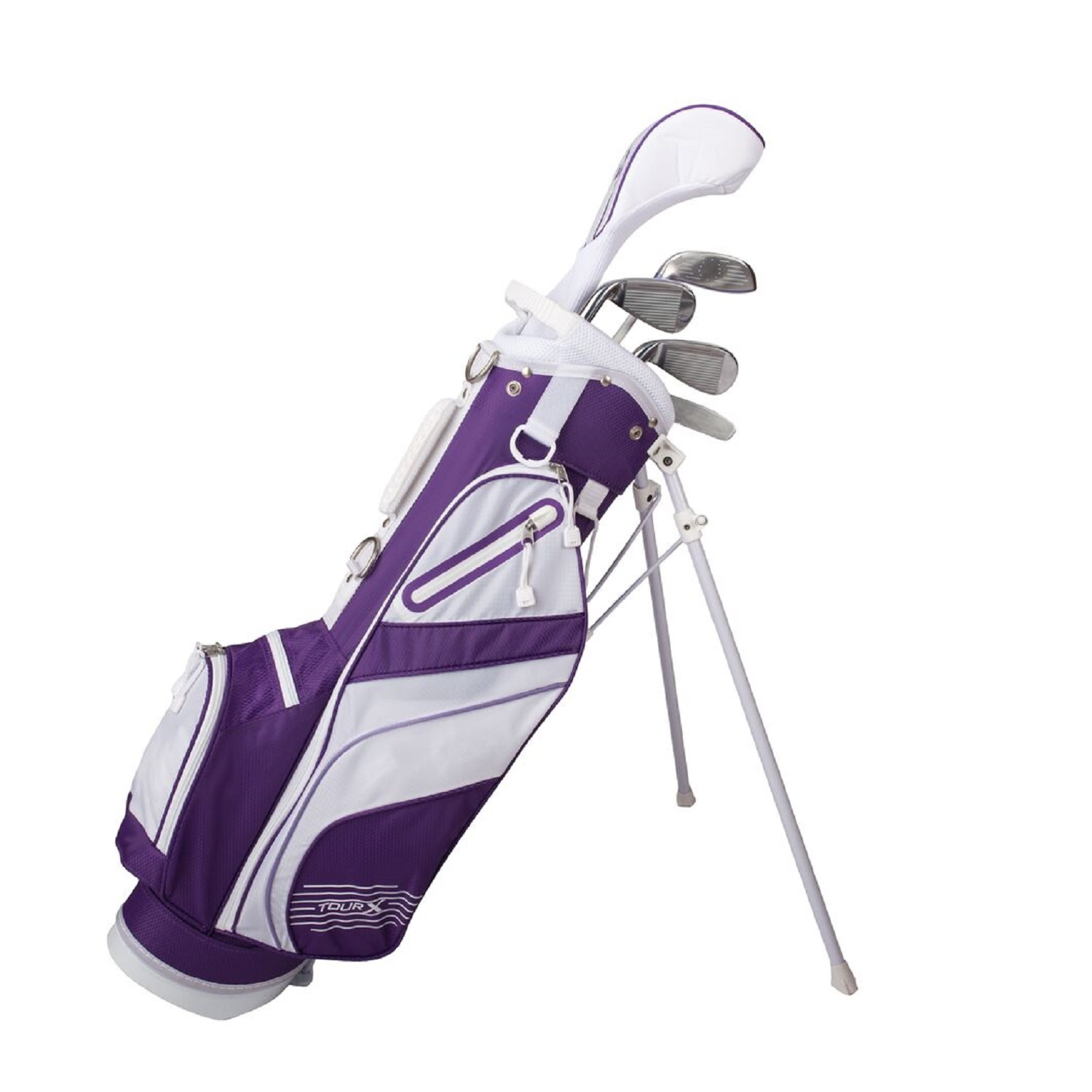 Tour X Size 2 Purple 5pc Jr Golf Set w/Stand Bag