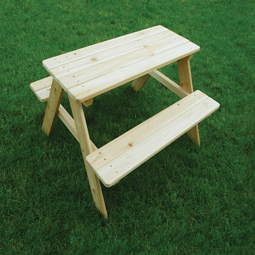 Merry Products Junior Indoor / Outdoor Wooden Kids Picnic Table