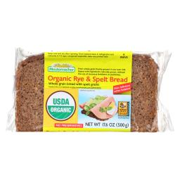 Natural Rye And Spelt Bread - Whole Grain Bread With Unripe Spelt Grains ( 12 - 17.6 OZ )