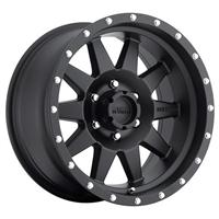The Standard, 17x8.5 with 6 on 5.5 Bolt Pattern - Black Painted