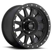 Double Standard, 17x8.5 with 8 on 6.5 Bolt Pattern - Black