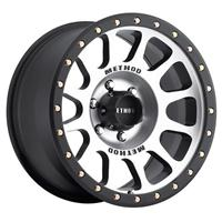 NV, 17x8.5 with 5 on 5 Bolt Pattern - Machined with Black Lip