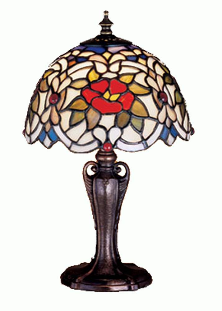 "13""H Renaissance Rose Mini Lamp"