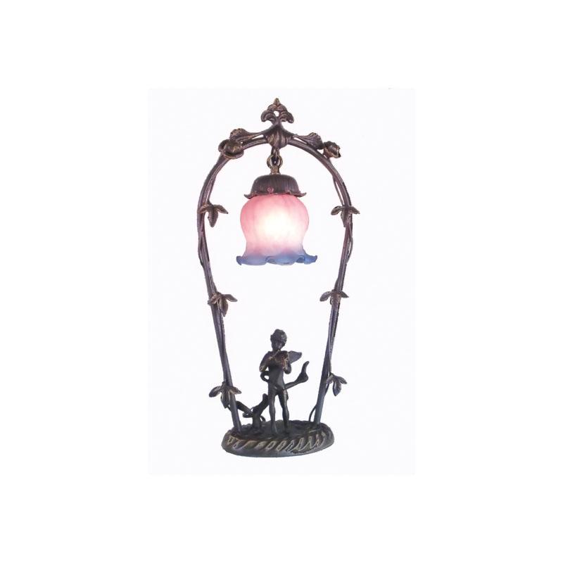 "Meyda 19""H Cherub With Violin Accent Lamp"
