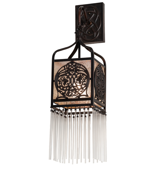 """7"""" Wide Celtic Knot Hanging Lantern Wall Sconce"""