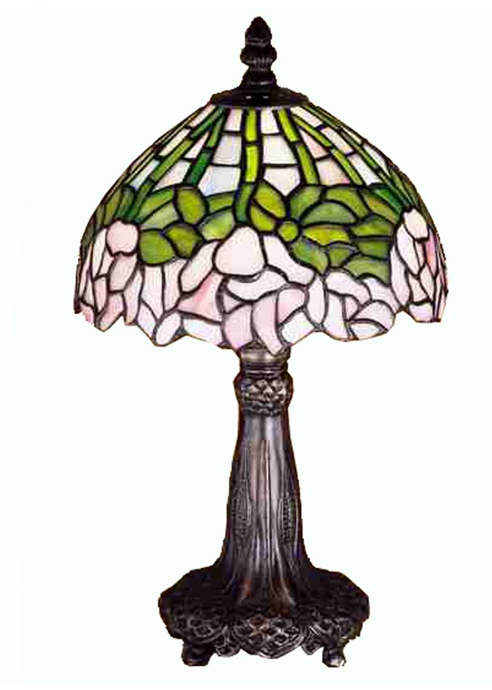 """13""""H Cabbage Rose Mini Lamp"""