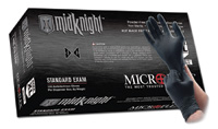 "Microflex+ Large Black 9.6"" MidKnight+ 4.7 mil Nitrile Ambidextrous Non-Sterile Powder-Free Disposable Gloves With Textured Fini"