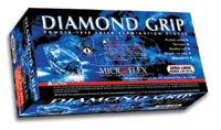 "Microflex+ Medium Natural 9.8"" Diamond Grip+ 6.3 mil Latex Ambidextrous Non-Sterile Powder-Free Disposable Gloves With Textured"