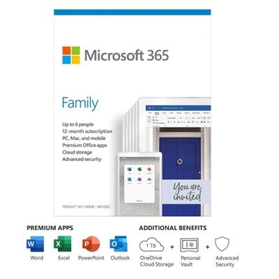 Microsoft 365 Family Sub 1Yr