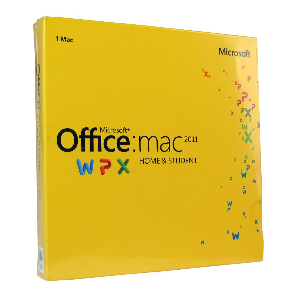 Microsoft Office MAC 2011 WPX 1-Mac Home & Student: Word, Excel, PowerPoint, & OneNote