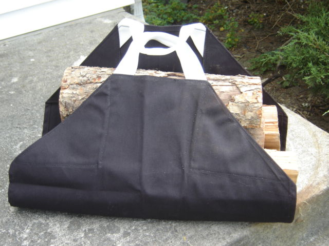 MULTI-USE CANVAS CARRIER/LOG TOTE