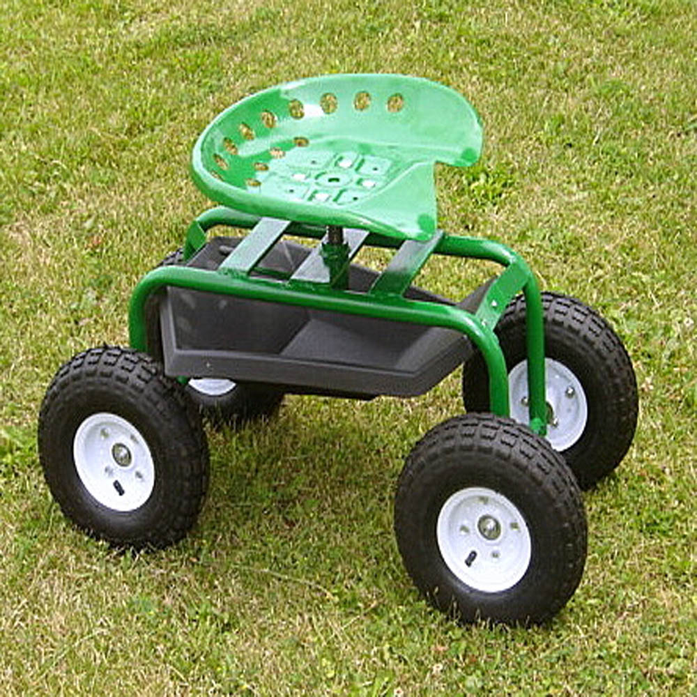 "HANDY CADDY/""TRACTOR SEAT ON WHEELS"""