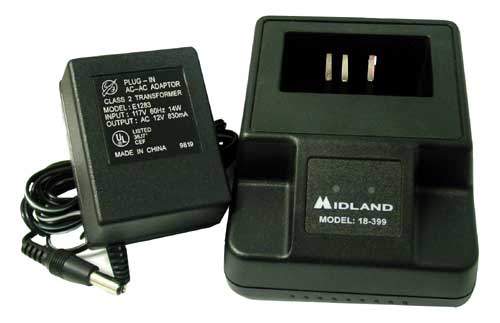 MIDLAND - DROP IN QUICK CHARGER AND AC ADAPTER FOR 75-510XLB