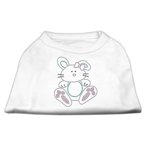 Bunny Rhinestone Dog Shirt White XXL (18)