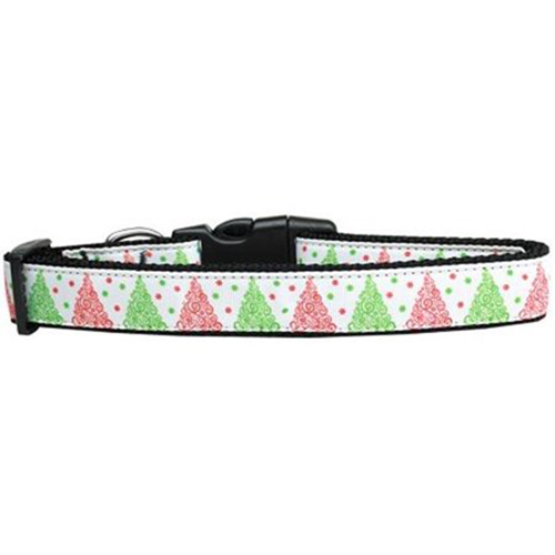 Fancy Schmancy Christmas Tree Nylon Dog Collar Medium Narrow