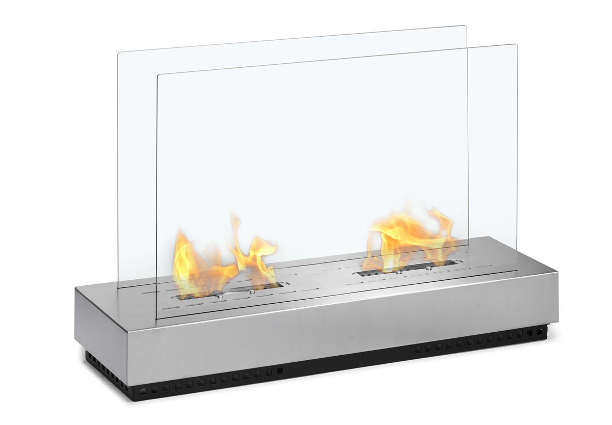 Braga Free Standing Floor Indoor/Outdoor Ethanol Fireplace