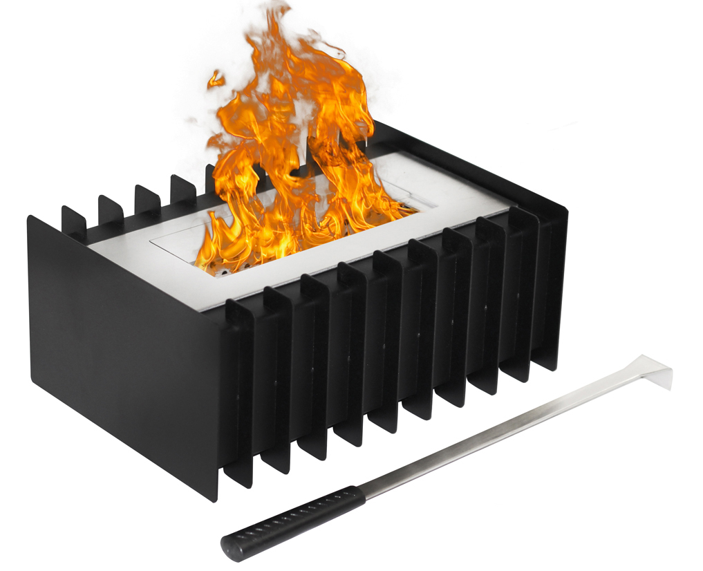 1.5 Liter Ventless Bio Ethanol Fireplace Grate Burner Insert