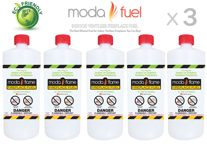 1 Quart Bio Ethanol Fireplace Fuel (3 Bottles)