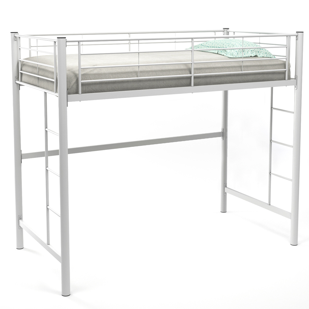 Ava Twin Over Loft Bunk Bed, White