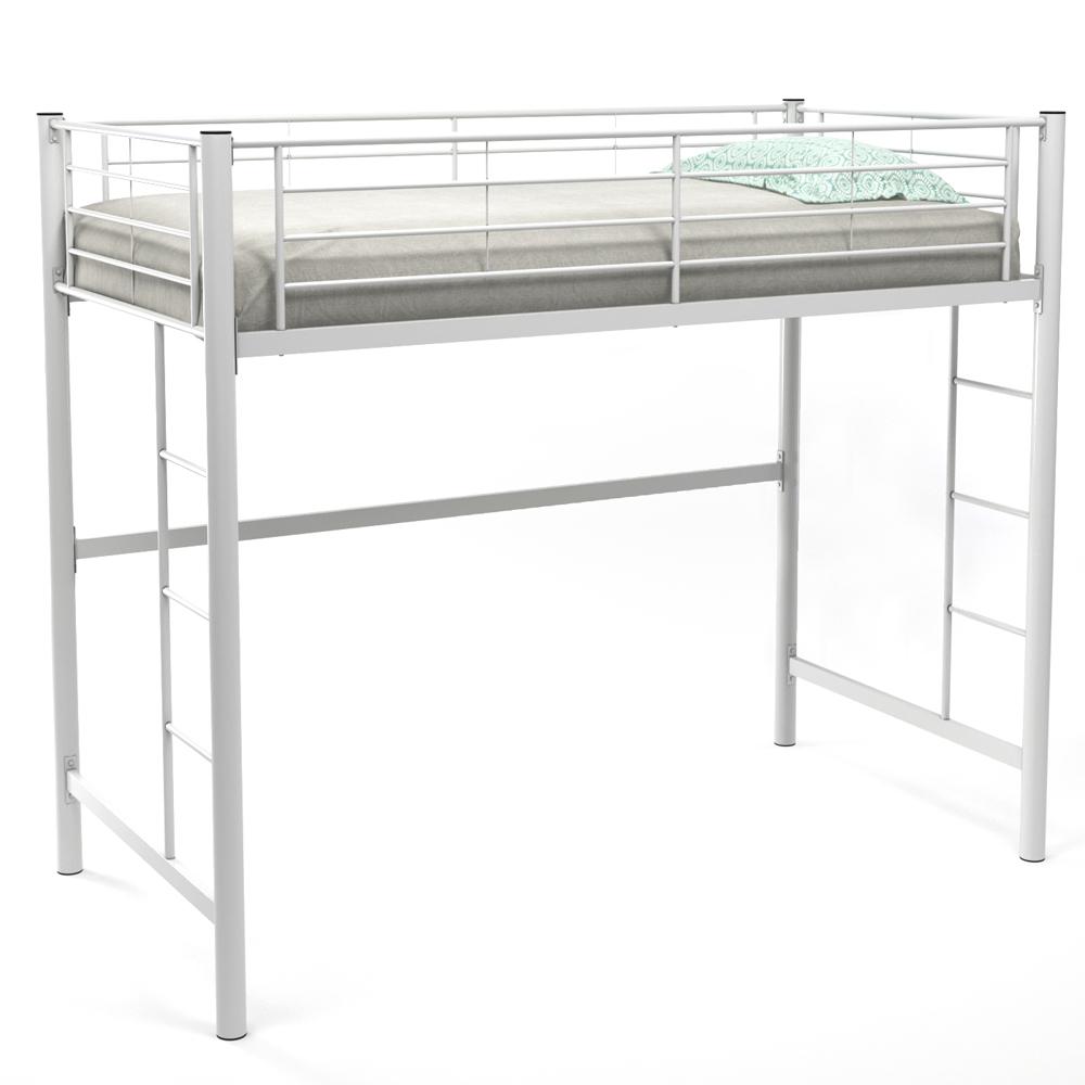 Ava Twin Over Loft Bunk Bed, White