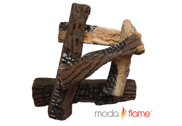 5 PCS Ceramic Fireplace Logs