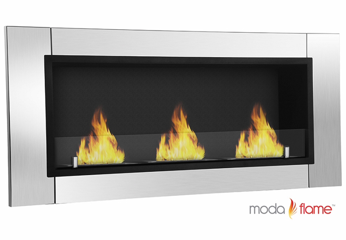 Devant Ventless Bio Ethanol Wall Mounted Fireplace