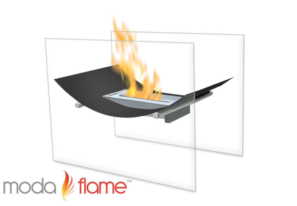 Sienna Free Standing Indoor Outdoor Bio Ethanol Fireplace Black