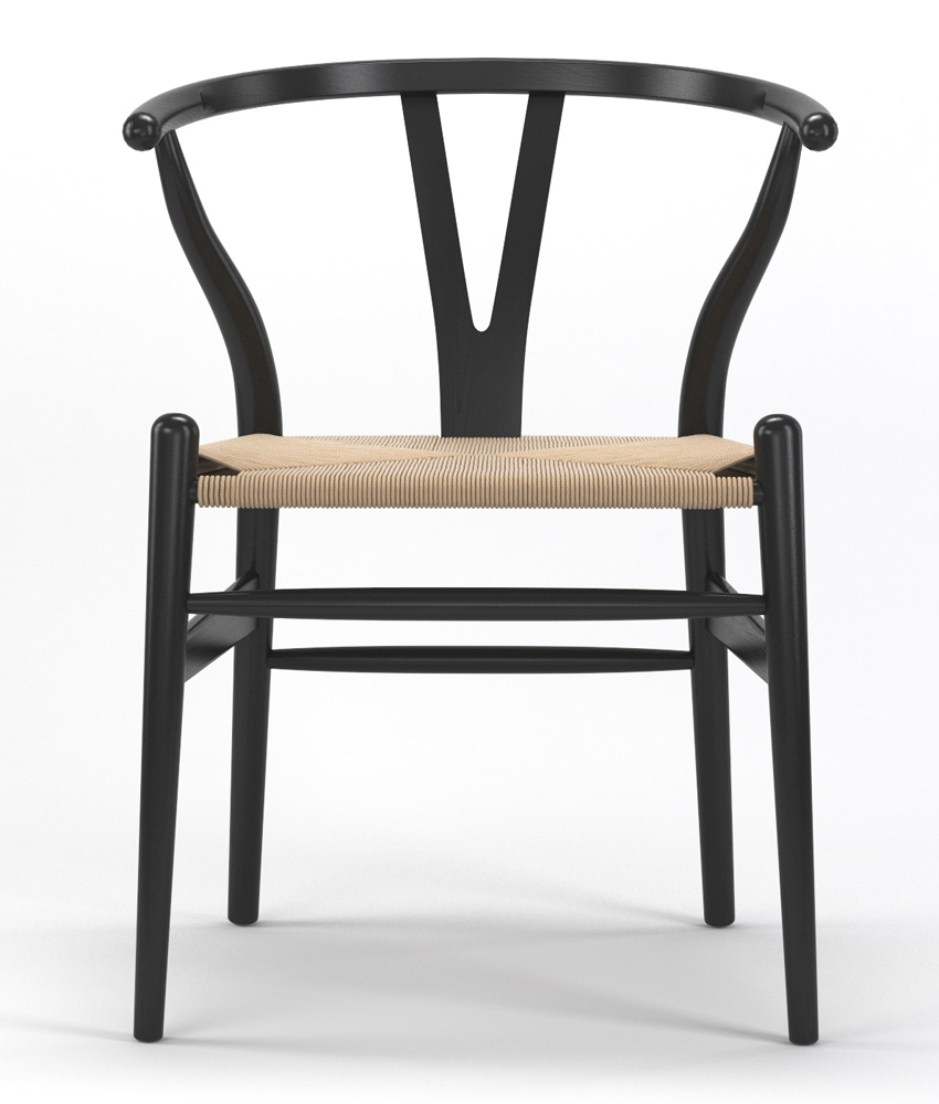 Timber Accent Dining Chair in Black