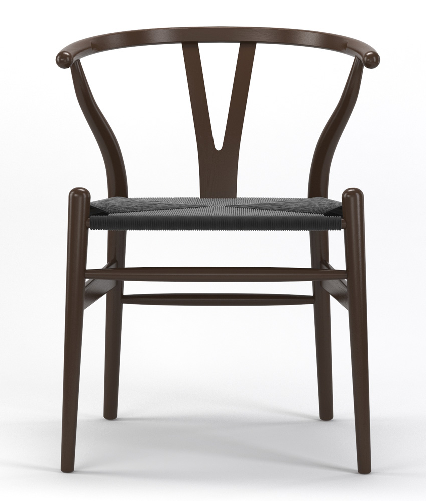 Timber Accent Dining Chair in Brown with Black Seat