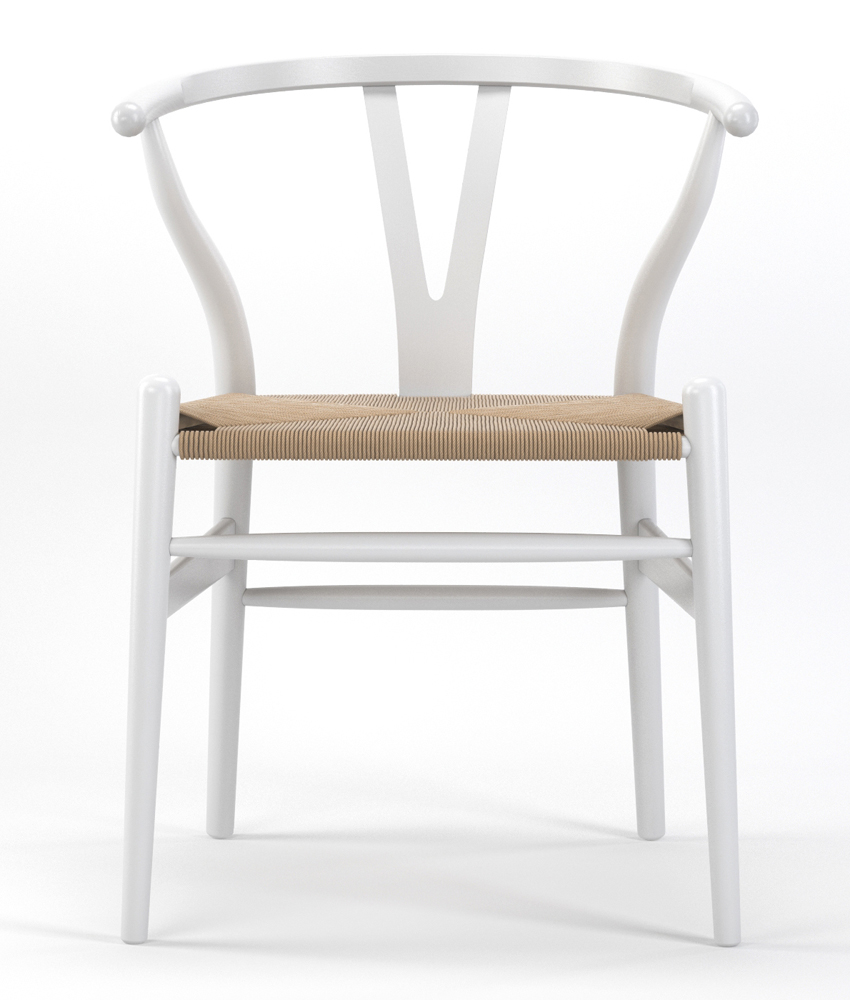 Timber Accent Dining Chair in White