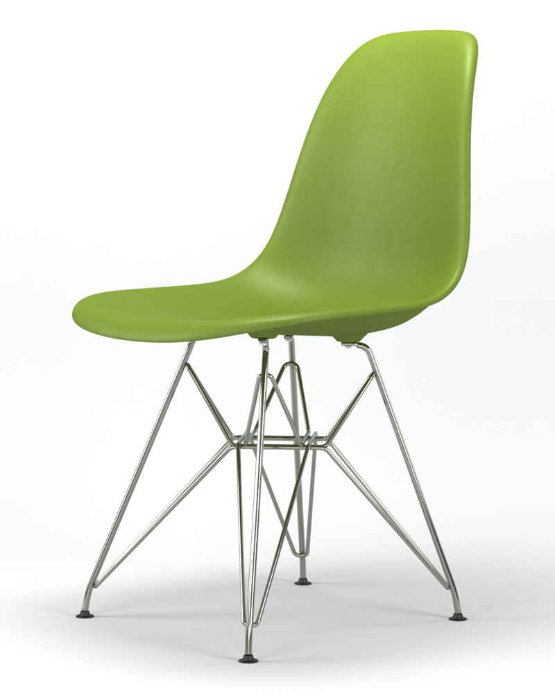 Armin Wire Base Dining Side Chair in Green