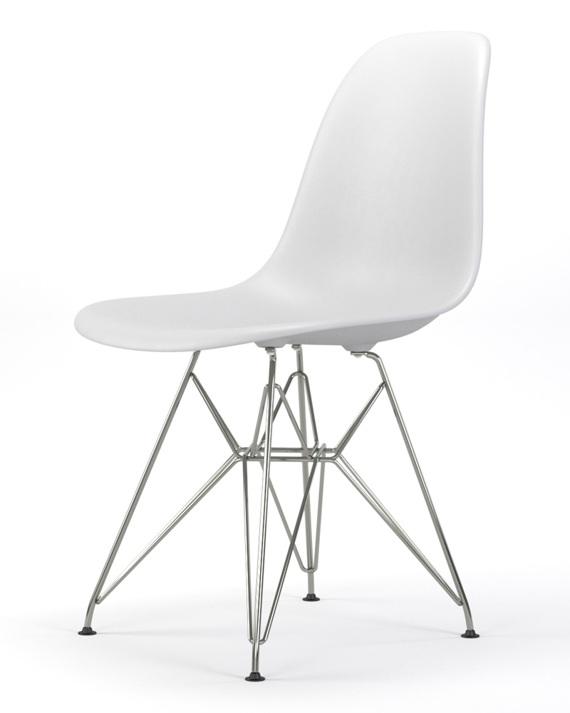 Armin Wire Base Dining Side Chair in White