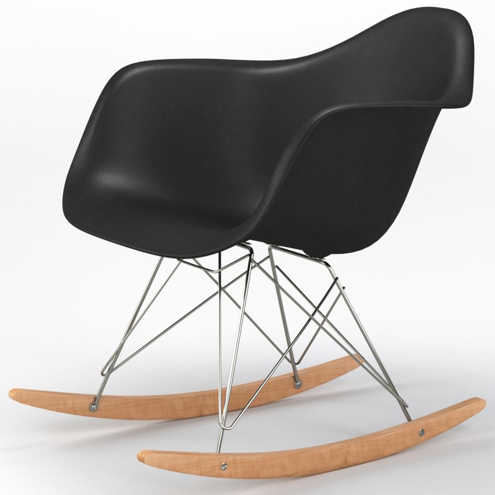 Brevim Hybrid Occasional Rocking Armchair in Black