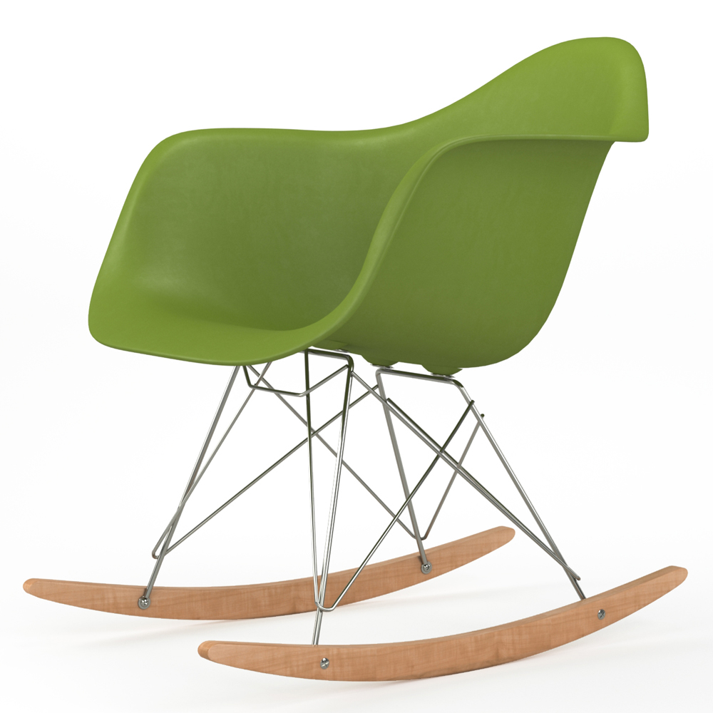 Brevim Hybrid Occasional Rocking Armchair in Green