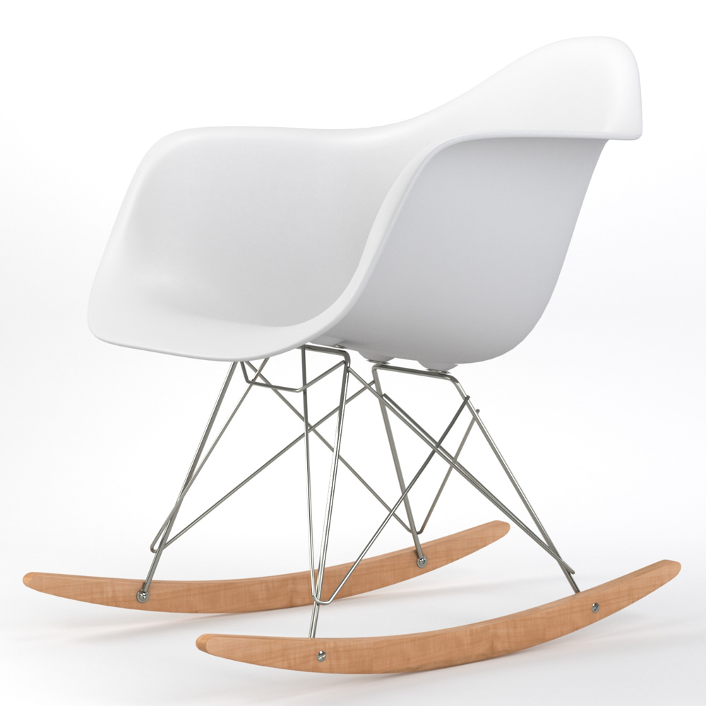 Brevim Hybrid Occasional Rocking Armchair in White