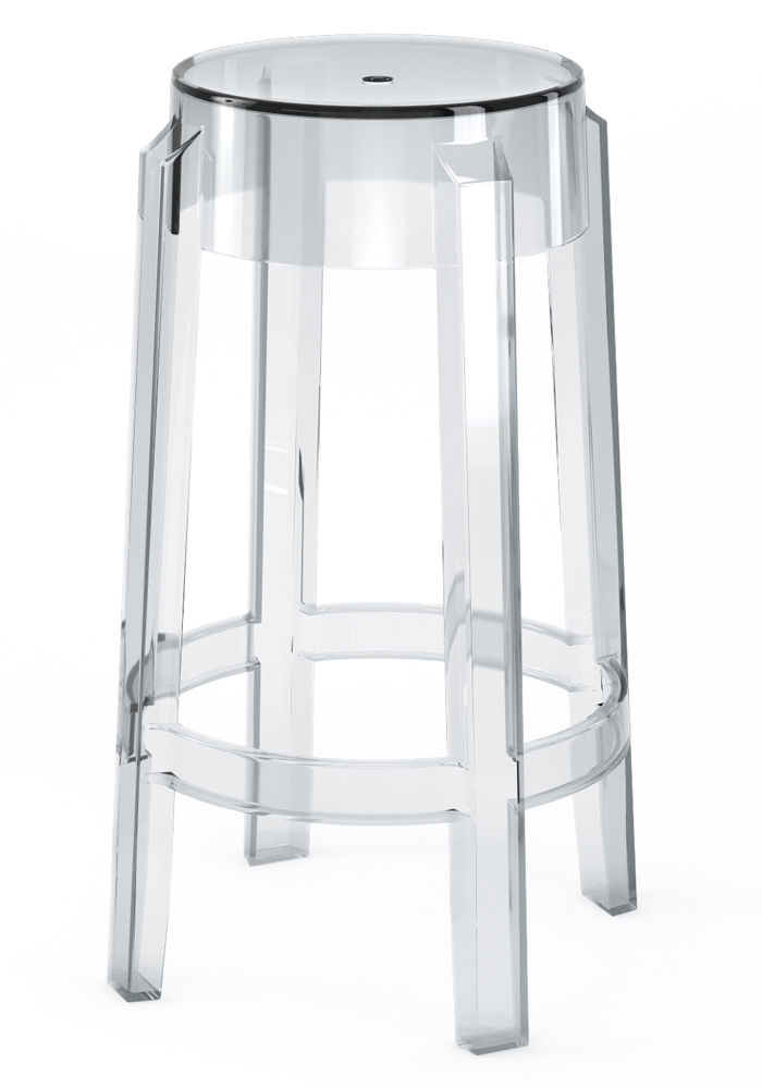 "Phantom 26"" Backless Counter Stool in Clear"