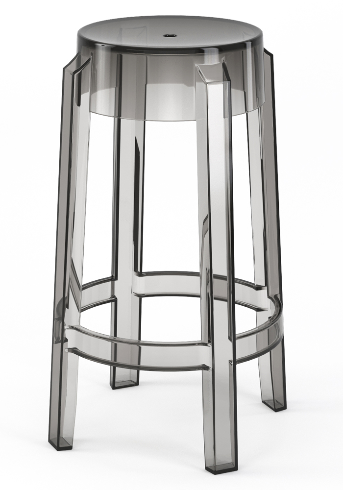 "Phantom 26"" Backless Counter Stool in Smoke"