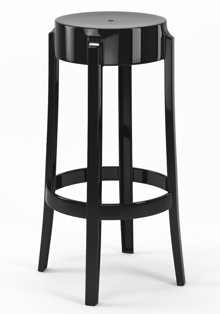 "Phantom 29"" Backless Bar Stool in Black"