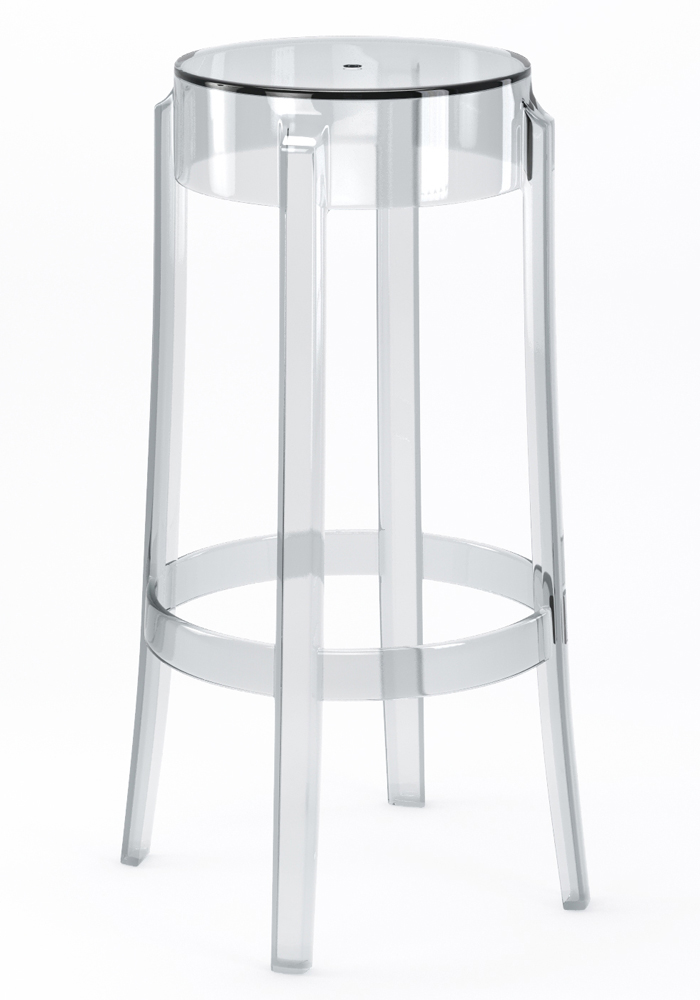 "Phantom 29"" Backless Bar Stool in Clear"