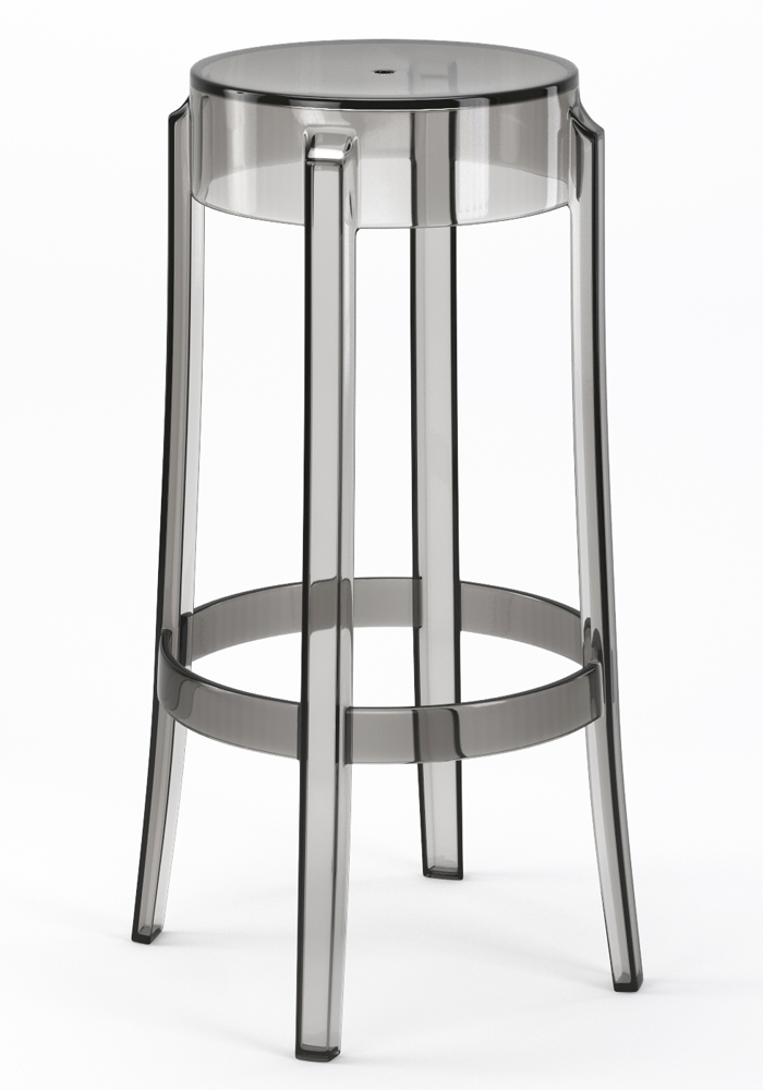"Phantom 29"" Backless Bar Stool in Smoke"