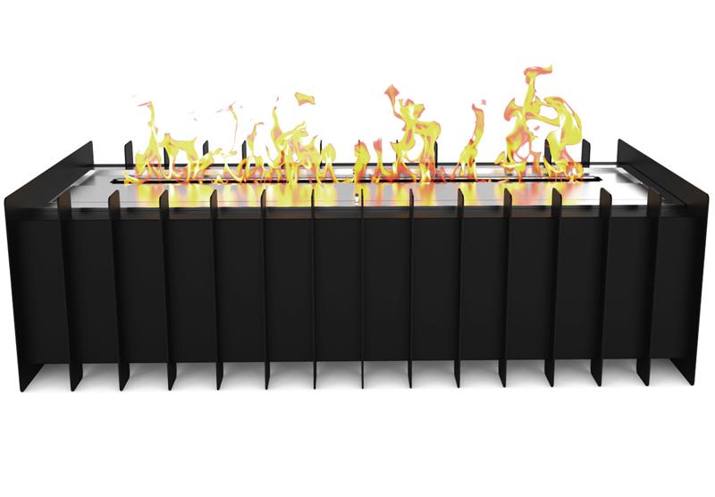 "18"" PRO Ventless Bio Ethanol Fireplace Grate Burner Insert"