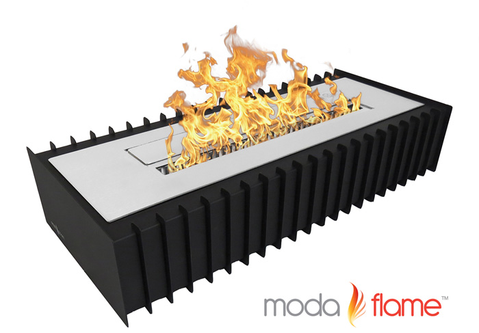 "24"" PRO Ventless Bio Ethanol Fireplace Grate Burner Insert"