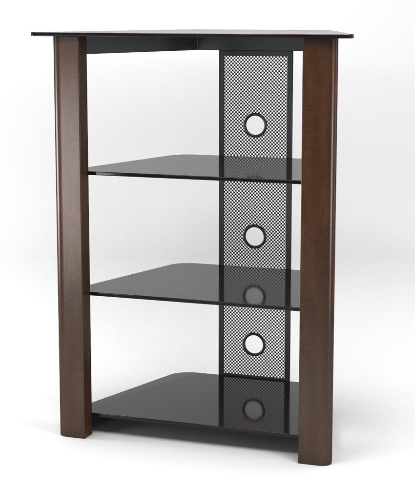 Ashton Multi-Level Component Stand in Wood Espresso